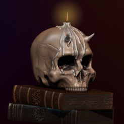 Download 3D printing models Skull and books, apcks