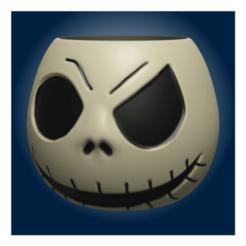 render3.fw (Small).png Download STL file Skull pot 3 • 3D printing object, apcks
