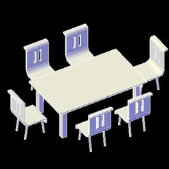 dining table1.jpg Download STL file doll house dining table set STL File • Object to 3D print, maq04realestate
