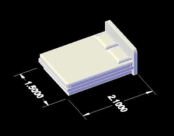 bed.JPG Download STL file doll house Bed  STL File • Design to 3D print, maq04realestate