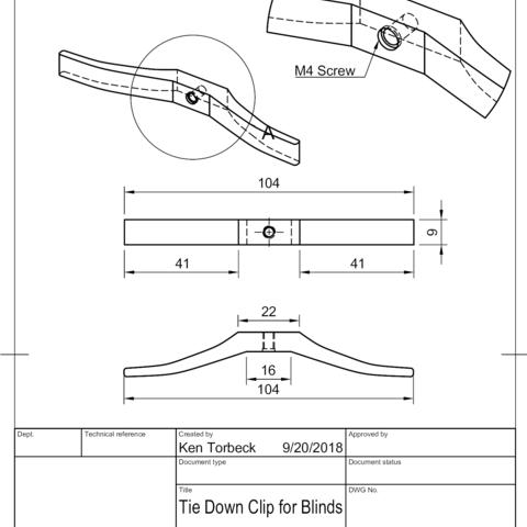 Free 3d Model Window Blind Cord Tie Down Cord Winder Cults
