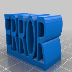 Télécharger modèle 3D gratuit Signe d'erreur Gmod compatible avec Lego, Megawillbot