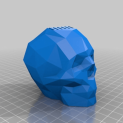 Download free 3D printing templates Low Poly Skull SD Card Holder, Megawillbot