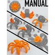 squar.png Download STL file Print-In-Place Pumpkin Spider  • Template to 3D print, Megawillbot