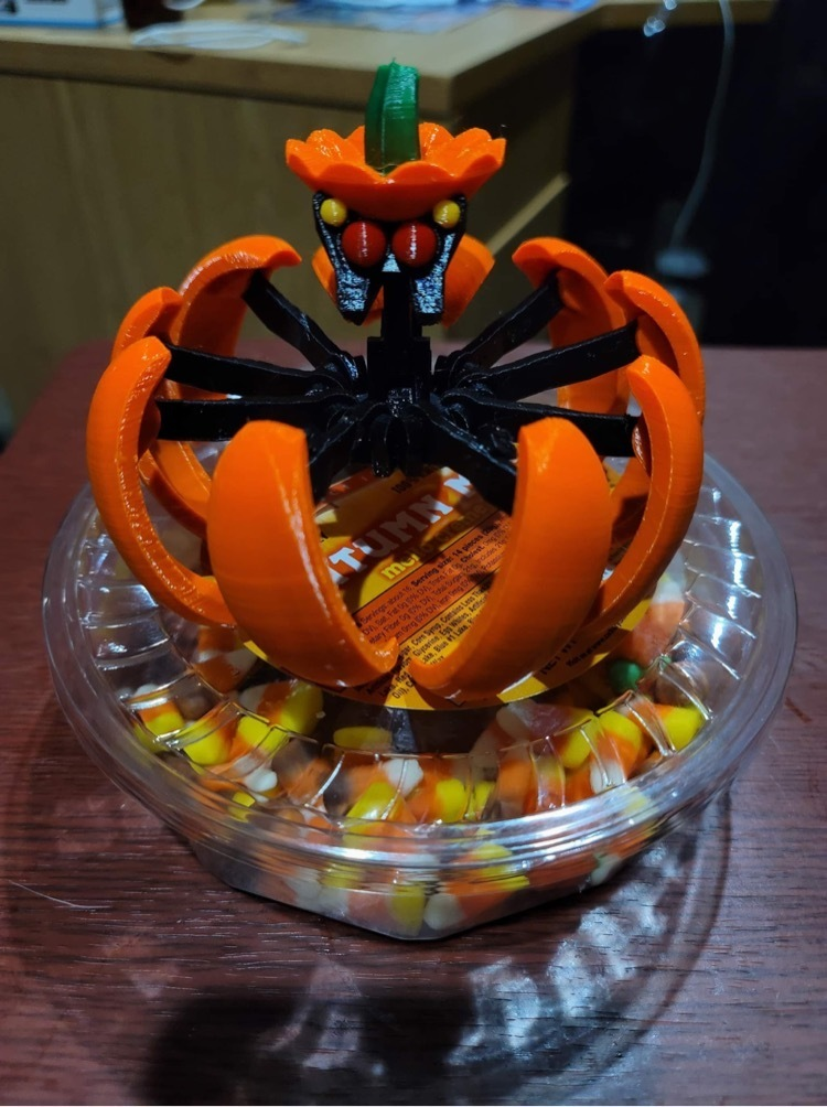 IMG_3918.JPG Download STL file Print-In-Place Pumpkin Spider  • Template to 3D print, Megawillbot