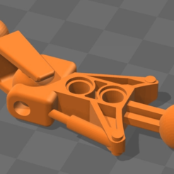 Download free 3D printing templates Bionicle Articulated Leg (Both End Ball Joints), Megawillbot