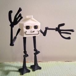 1.jpg Download STL file Milkwalker Action Figure • 3D printable model, Megawillbot