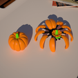 Screenshot (1717).png Download STL file Print-In-Place Pumpkin Spider  • Template to 3D print, Megawillbot