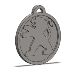 Download free 3D printer files PEUGEOT KEY RING, matysgarcia