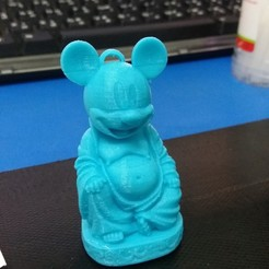 Download 3D printing designs keychain Mickey mouse Buddha, kantapat129