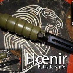 Free 3D print files Hoenir - Airsoft Ballistic Knife, Snorri