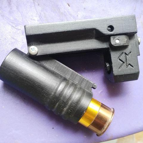 Imprimir en 3D gratis Hyrr, la escopeta de la pistola Airsoft, Snorri