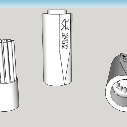 Impresiones 3D gratis Airsoft 40mm Cargador de granadas de velocidad, Snorri