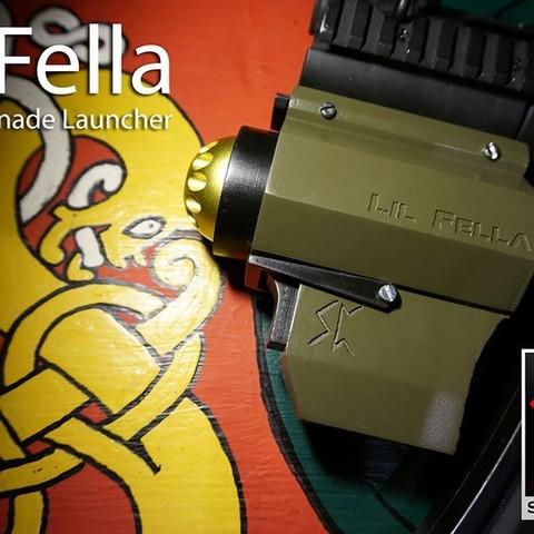 Download free 3D model Lil Fella - Airsoft Pocket Grenade Launcher, Snorri