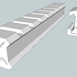 a28de13cf8f45b1d227f42a5aa58e1d6_display_large.jpg Download free STL file Picatinny male to male and female to female adaptors. • Template to 3D print, Snorri