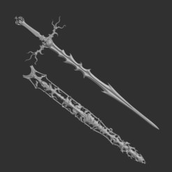 Free 3D printer designs Skull sword and scabbard , Snorri