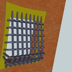 Free 3D printer designs Door Grate, Snorri