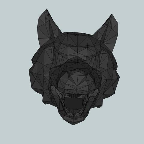 Télécharger modèle 3D gratuit Cache flash tête de loup pour airsoft, Snorri