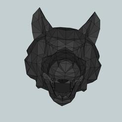 Impresiones 3D gratis Cabeza de lobo oculta flash para airsoft, Snorri