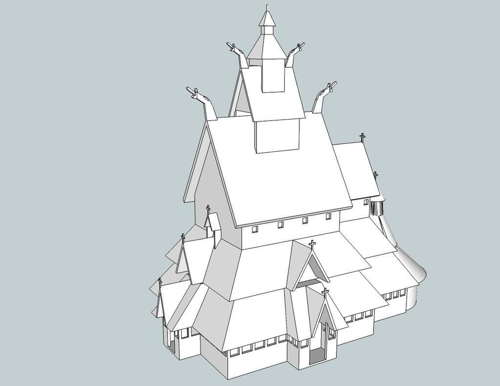 405336e878619e8cefcb7559131f82fc_display_large.jpg Download free STL file Borgund Stavkirke • 3D printer model, Snorri