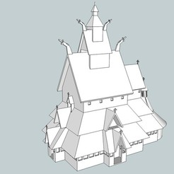 Download free 3D printer designs Borgund Stavkirke, Snorri