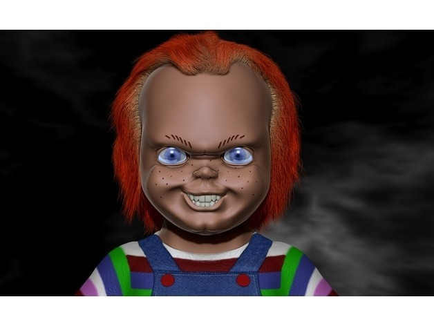 6ca3dbc50399e611587cd1f600b09f3b_preview_featured.jpg Download free OBJ file Chucky Bust  • 3D printable template, Snorri
