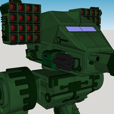 1a9ef95a15f7a851a4c41e2af395f0fd_display_large.jpg Download free STL file Mech Warrior • 3D print object, Snorri