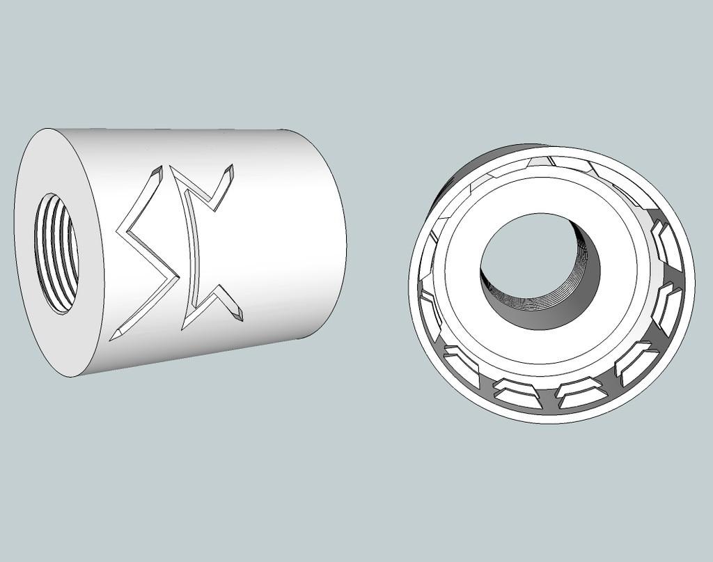 0de23181dcabfc5d66dd03b97afbe99b_display_large.jpg Download free OBJ file Airsoft Soda bottle flash hider adaptor • 3D printer design, Snorri