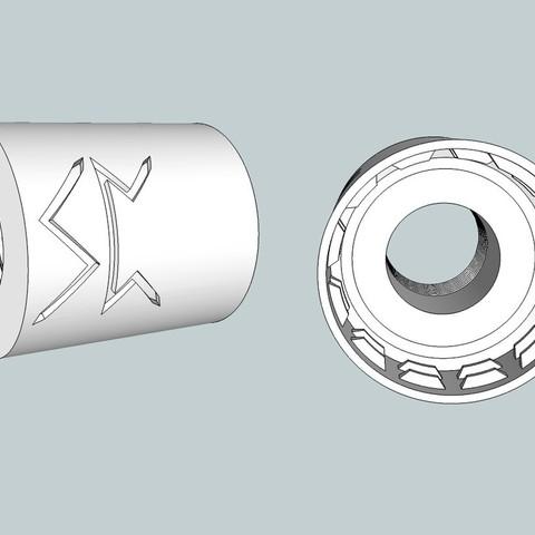 Download free 3D printer model Airsoft Soda bottle flash hider adaptor, Snorri
