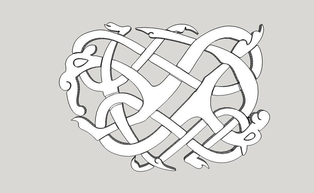 64befa18637bf0cb5338cecd2e1b0d5c_display_large.jpg Download free STL file Viking pendant Urnes Style • 3D printing template, Snorri