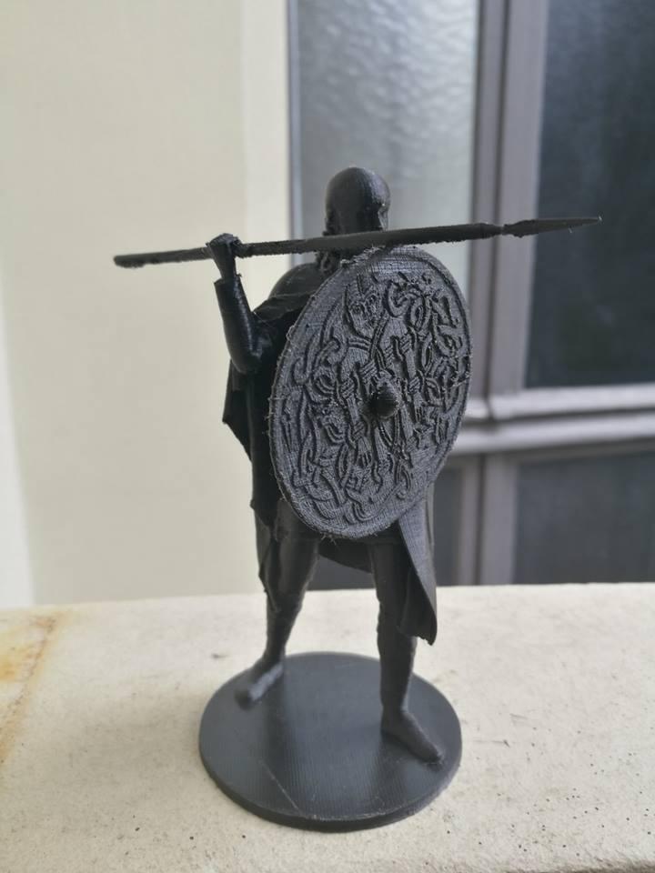 e1cc5a18ef94686cdef3d246e17ea738_display_large.jpg Download free OBJ file Viking Spearman • 3D printer template, Snorri