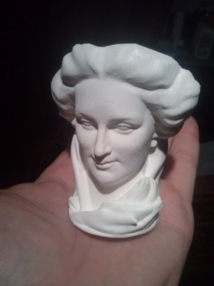688dfddb0d1b94ac981516dc60063b11_display_large.jpg Download free OBJ file Maurice Xhrouet's woman head statue • 3D printable template, Snorri
