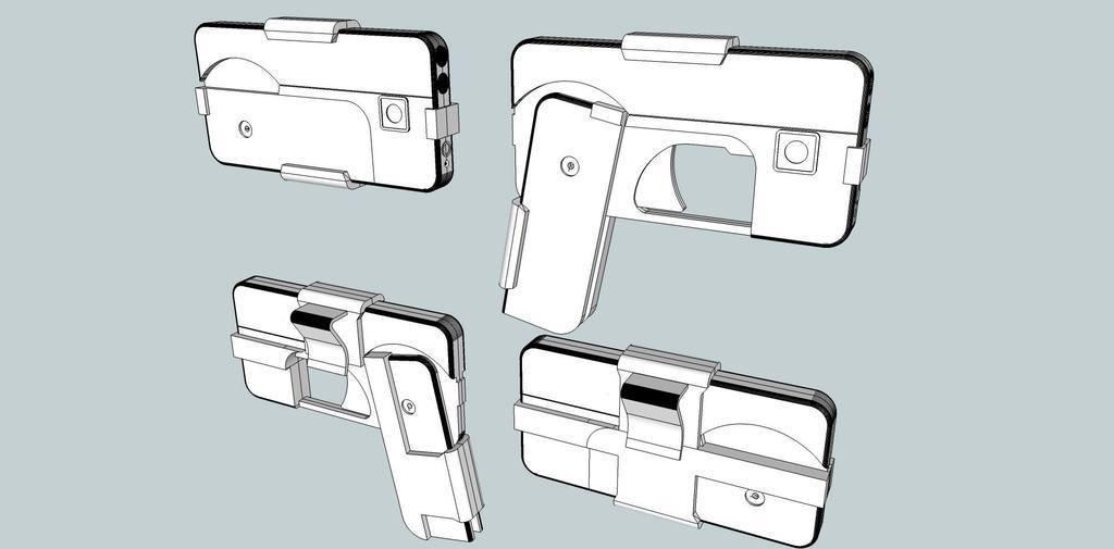 ede83e3fbc6b78f6cb0c554e581e22d2_display_large.jpg Download free STL file Phone Gun • 3D printer object, Snorri
