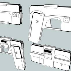 Free 3d printer files Phone Gun, Snorri