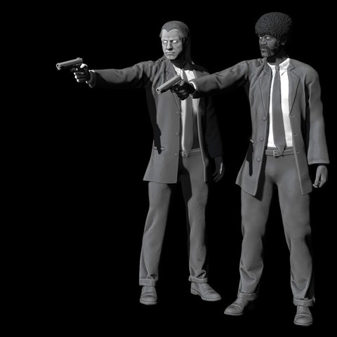 Free 3D printer model Pulp Fiction - Vincent Vega and Jules Winnfield, Snorri