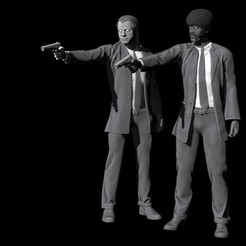Download free 3D printing templates Pulp Fiction - Vincent Vega and Jules Winnfield, Snorri