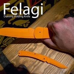 Modèle 3D gratuit Felagi - Couteau pliant, Snorri