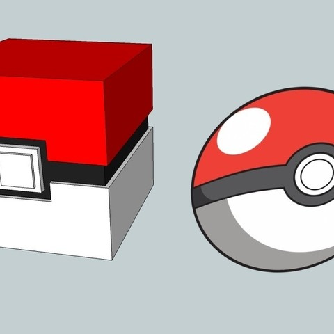Download free 3D printing designs Pokecube - The square Pokeball, Snorri