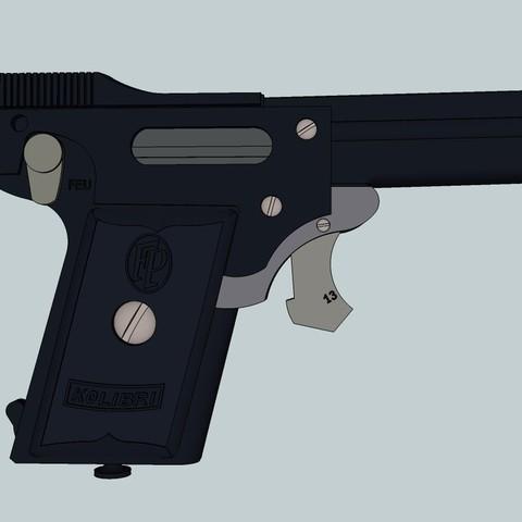 Descargar diseños 3D gratis Pistola Kolibri 2.7mm, Snorri