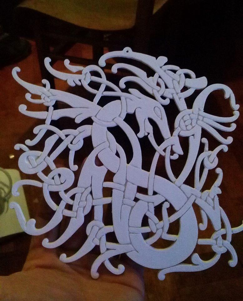 b89d14d340cb25a0928f486fbdfe4ec5_display_large.jpg Download free STL file Viking pendant Urnes Style - number 3 • 3D printable template, Snorri