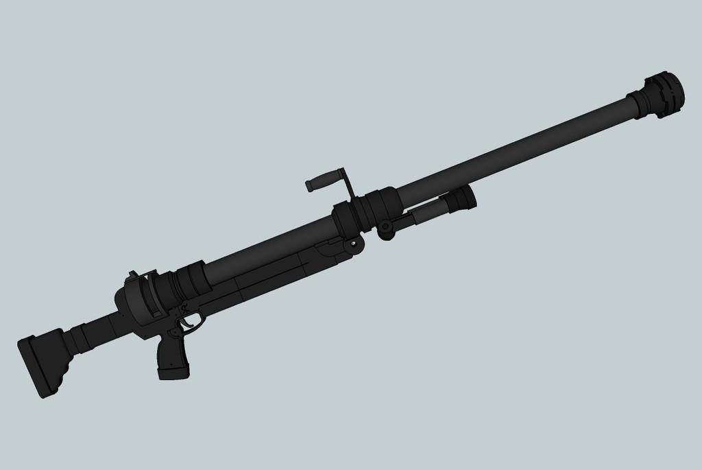 d35b79b378efc951d37f853860ab68ec_display_large.jpg Download free OBJ file Hellsing ARMS Anti-Tank Cannon - Harkonnen - Airsoft grenade launcher • 3D printing design, Snorri