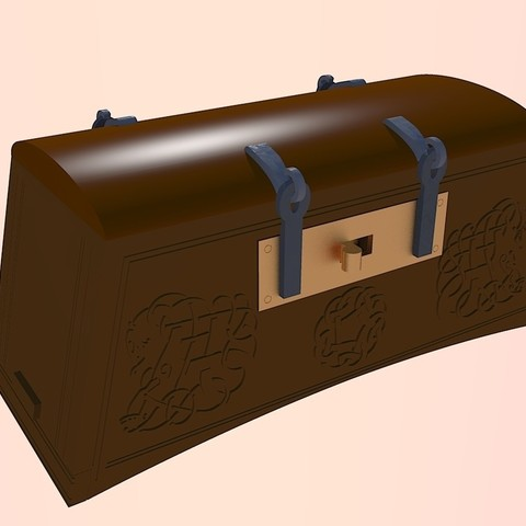 Free 3D printer files Viking Chest - Hedeby and fantasy version, Snorri