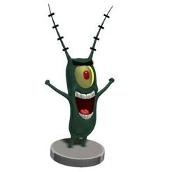 Download free 3D printing designs Plankton - SpongeBob , Snorri