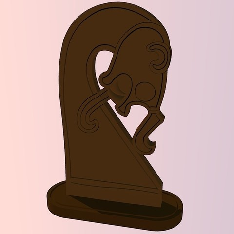 Free 3D printer designs Oseberg Tent Post Carving - Viking, Snorri