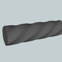 Free 3d print files Airsoft threaded silencer, Snorri