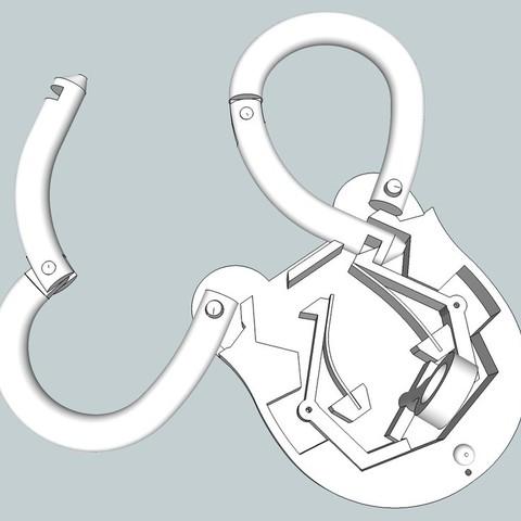 2d14d35ded75ef43be70ecc650bcacd0_display_large.jpg Download free STL file Houdini's Russian Manacle • 3D printable design, Snorri