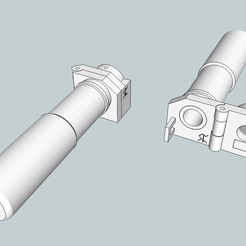 Download free 3D printing files Foldable Suppressor - Airsoft, Snorri
