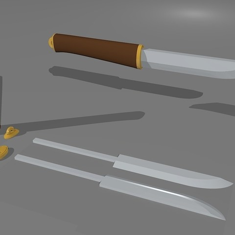 Download free STL Viking Inspired Knife, Snorri
