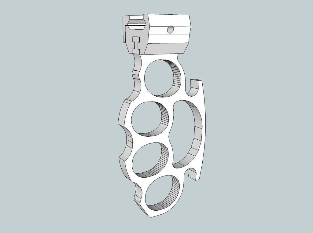 78dbee16efc40f878dbefcc6130aafc1_display_large.jpg Download free STL file Knuckle Duster - Picatinny rail • 3D printable design, Snorri