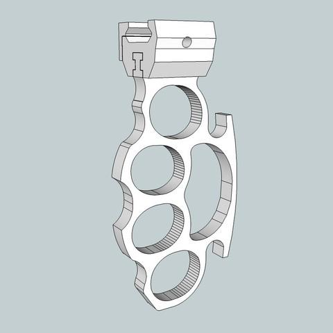 Descargar archivo 3D gratis Plumero de nudillos - Riel Picatinny, Snorri